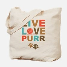 Live Love Purr Tote Bag