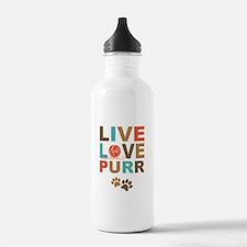 Live Love Purr Sports Water Bottle
