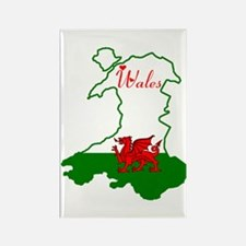 Cool Wales Rectangle Magnet