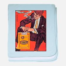 Vintage poster - Reval Cigarettes baby blanket