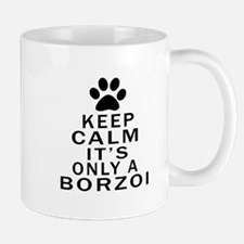 Borzoi Keep Calm Designs Mug