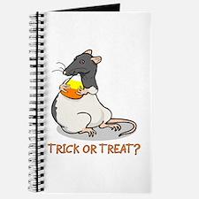 Blk Hood Halloween Rat Journal