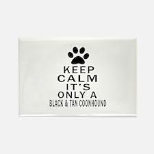 Black & Tan Coonhound K Rectangle Magnet (10 pack)