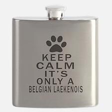 Belgian Laekenois Keep Calm Designs Flask