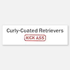 Curly-Coated Retrievers Kick Bumper Bumper Bumper Sticker