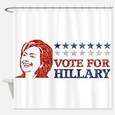 glitter vote hillary Shower Curtain
