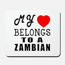 I Love Zambian Mousepad