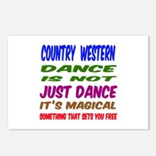 Country Western dance is Postcards (Package of 8)