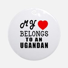 I Love Ugandan Round Ornament