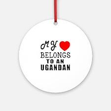 I Love Ugandan Round Ornament