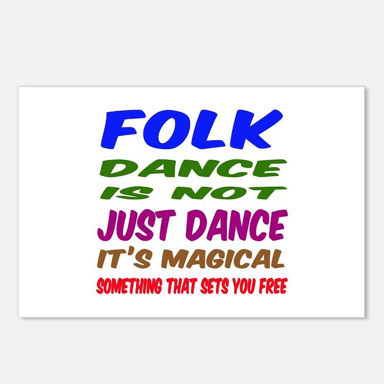 Folk dance is not just da Postcards (Package of 8)