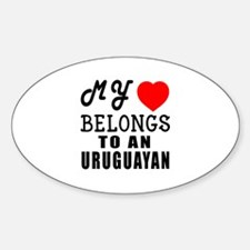 I Love Uruguayan Decal