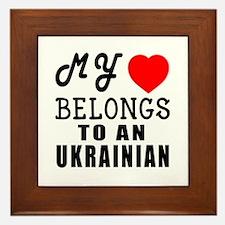 I Love Ukrainian Framed Tile