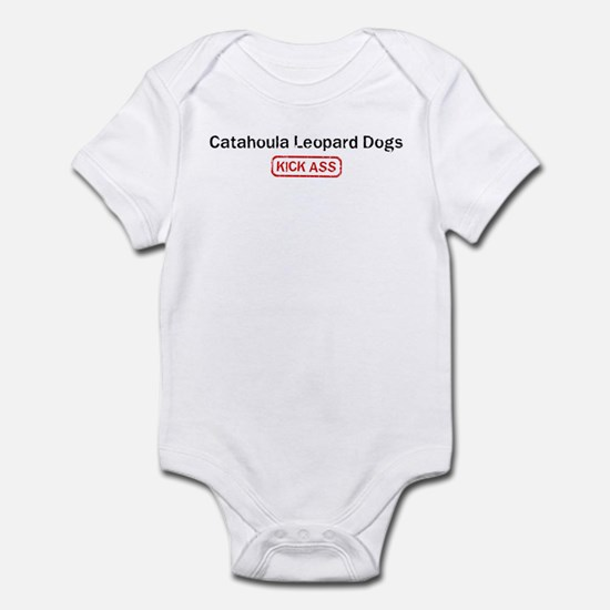 Catahoula Leopard Dogs Kick a Infant Bodysuit