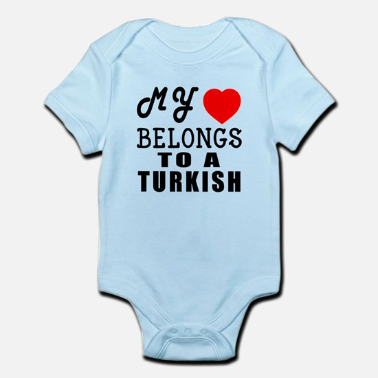 I Love Turkish Infant Bodysuit