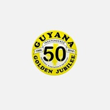 Guyana Golden Jubilee Mini Button