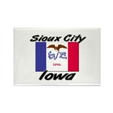 Sioux City Iowa Rectangle Magnet