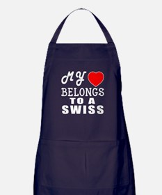 I Love Swiss Apron (dark)