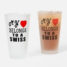 I Love Swiss Drinking Glass