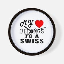 I Love Swiss Wall Clock