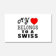 I Love Swiss Car Magnet 20 x 12