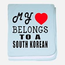 I Love South korean baby blanket