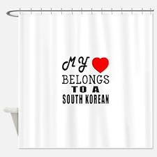 I Love South korean Shower Curtain