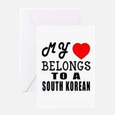I Love South korean Greeting Card