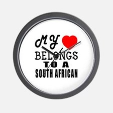 I Love South African Wall Clock