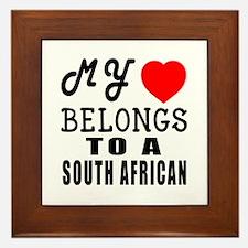 I Love South African Framed Tile