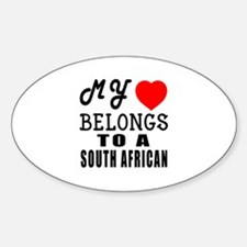 I Love South African Decal