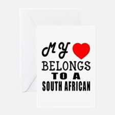 I Love South African Greeting Card