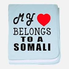 I Love Somali baby blanket