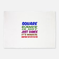 Square dance is not just dance 5'x7'Area Rug