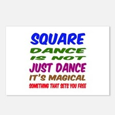 Square dance is not just Postcards (Package of 8)