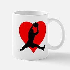 Basketball Heart Mugs