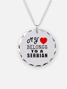 I Love Serbian Necklace