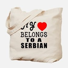 I Love Serbian Tote Bag