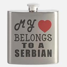 I Love Serbian Flask
