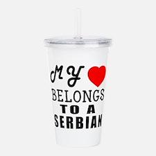 I Love Serbian Acrylic Double-wall Tumbler
