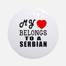 I Love Serbian Round Ornament