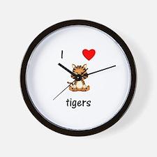 I love tigers Wall Clock