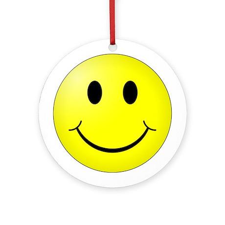 Classic Smiley Ornament (Round)