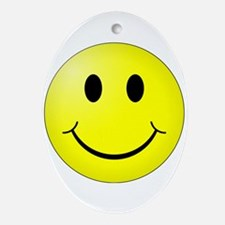 Classic Smiley Oval Ornament