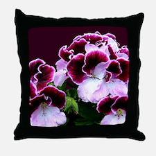 Pink Purple Geraniums Throw Pillow