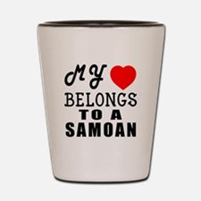 I Love Samoan Shot Glass