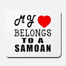I Love Samoan Mousepad