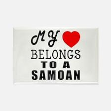 I Love Samoan Rectangle Magnet
