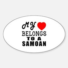 I Love Samoan Sticker (Oval)