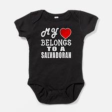 I Love Sao Salvadoran Baby Bodysuit